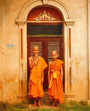 Two novice Buddhist monks, Mae Hong Son, Thailand