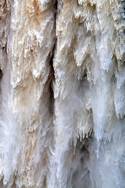 Detail of water falling from Kaieteur Falls, Guyana, South America