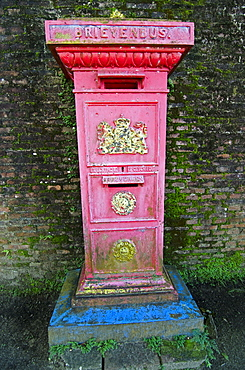 Old postbox dating from the Dutch colonial period of Paramaribo, Suriname, South America
