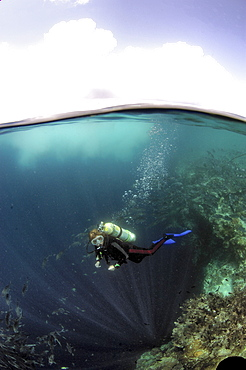 Diver and clouds.  Malaysia   (RR)