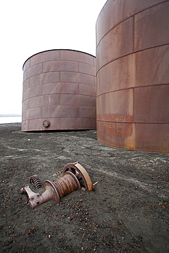 The old Norwegian whaling station at Whaler's Cove, Deception Island