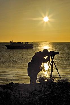 Sunrise from Isla San Esteban in the midriff region of the Gulf of California (Sea of Cortez), Baja California Norte, Mexico.