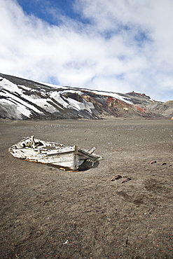 Views of Deception Island, an island in the South Shetland Islands off the Antarctic Peninsula