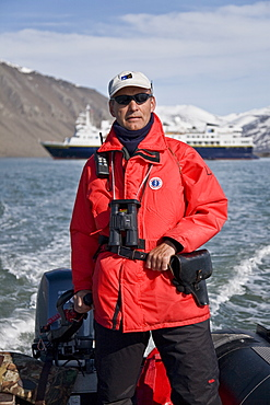 Natural history staff from the Lindblad Expedition ship National Geographic Explorer doing various things in and around the Svalbard Archipelago