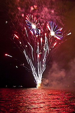 fireworks, Fourth of July - Independence Day, Kailua Bay, Kailua Kona, Hawaii, Pacific Ocean